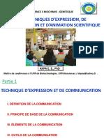 TECHNIQUES D'EXPRESSION DE COMMUNICATION ET D'ANIMATION SCIENTIFIQUE
