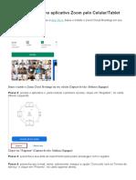 TUTORIAL Zoom Celular Tablet - Baixar, registrar y acessar reunião