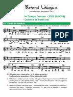 partituras tempo comum 11o. dom.  ano b 13-06-2021