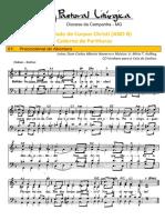 partituras solenidade de corpus christi ano b 03-06-2021