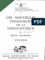Les Nouvelles Tendances de La Linguistique