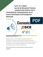 comunicado OSCE