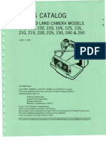 Parts Catalog - Polaroid Land Camera Models 100, 101, 102, 103, 104, 125, 135, 210, 215, 220, 225, 230, 240, & 250 - June 1970