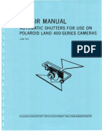 Repair Manual Automatic Shutters For Use On Polaroid Land 400-series Camera - June 1971