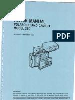 repair manual polaroid land camera model 360 revision i september rh scribd com