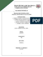 TRABAJO N°1 POLÍTICA MONETARIA EN EL ECUADOR
