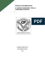 COLTOLEDO PLATA . PROYECTO DEMOCRACIA 2011...