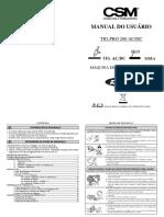 Manual Do Usuário - Tig Pro 200 Ac_dc