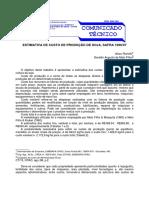 ESTIMATIVA DE CUSTO DE PRODUÇÃO DE SOJA, SAFRA 1996/97