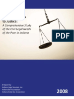 Indiana - Unequal Access To Justice - A Comprehensive Study