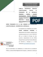 Denuncia constitucional contra Sagasti, Bermúdez y Ugarte