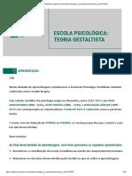 ESCOLA PSICOLÓGICA TEORIA GESTALTISTA