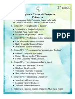 Programa Cierre de Proyecto