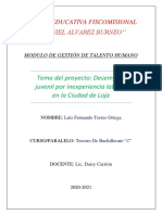 Informe Propuesta Innovadora - Luis Torres