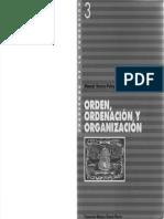 Manuel García Pelayo - Orden Ordenación y Organización