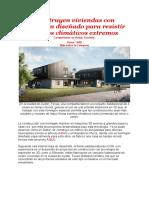 Construyen viviendas con hormigón diseñado para resistir eventos climáticos extremos