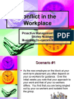 Conflict in the Workplace Fall 2007
