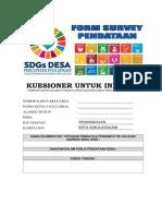 COVER KUESIONER INDIVIDU SDGs DESA
