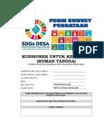 COVER KUESIONER RUMAH TANGGA (KELUARGA-KK) SDGs DESA