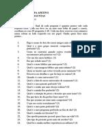 Texte do mapa Afetivo - Josué Gonçalves