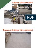 Espaces urbains en béton désactivé