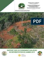 Evènements majeurs de déforestation 2019-