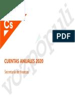 Cuentas Ciudadanos 2020