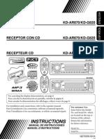 JVC KD-G820 User Manual