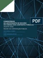 Comentarios Ao Anteprojeto de Revisao Do Codigo Dos Contratos Publicos