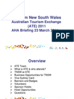 ATE 2011 AHA Industry Briefing - 23 March 2011
