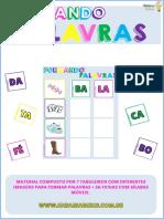 Jogo Bingo Formando Palavras Ideias e Saberes