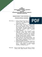 Rancangan peraturan pemerintah tentang pengendalian dampak produk tembakau terhadap kesehatan