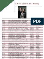 2011 Itinerary