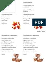 Poèmes d'automne CP