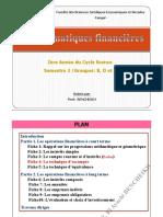 Pr BENCHEIKH Mathématiques financières (La technique d'escompte)