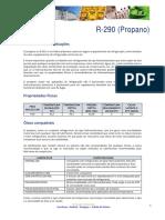 Dados Tecnicos r 290 Gas Servei