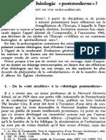 285 Vers+Une+Théologie+«Postmoderne» +Un+Point+de+Vue+Nord Américain