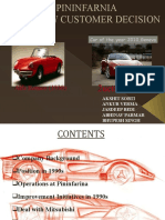 Case Study:THE NEW CUSTOMER DECISION (Pininfarina-Mitsubishi)