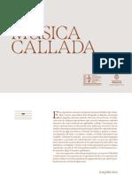 """Catálogo exposición """"La música callada"""" (Fundación Joaquín Díaz)"""