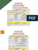 Plano Manutenção D61EX-23M0