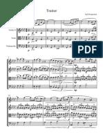 [Original Composition] String Quartet Traitor