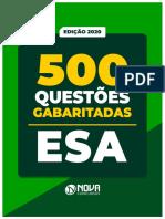500 questões - Apostila NOVA - ESA