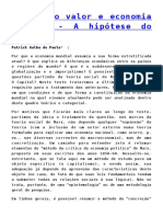 Teoria do valor e economia mundial - A hipótese do bloqueio Patrick Galba de Paula