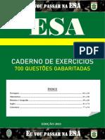 ESA 2021 COMBATENTE - Caderno de exercícios gabaritados
