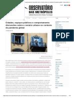 05. Ok OBSERVATORIO_Cidades, Espaços Públicos e Comportamento_ Discussões No Contexto de Pandemia Global
