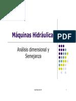 244282111 MAQUINAS HIDRAULICAS Analisis Dimensional y Semejanza PDF