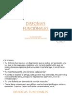 Disfonias funcionales -2017