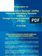 Presentation on ADR GDR and FCCB - 27.02.09