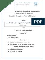 Mémoire de projet de fin d étude pour l obtention de la Licence Sciences et Techniques Spécialité _ Conception et Analyse Mécanique.