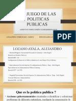 EL JUEGO DE LAS POLITICAS PUBLICAS
